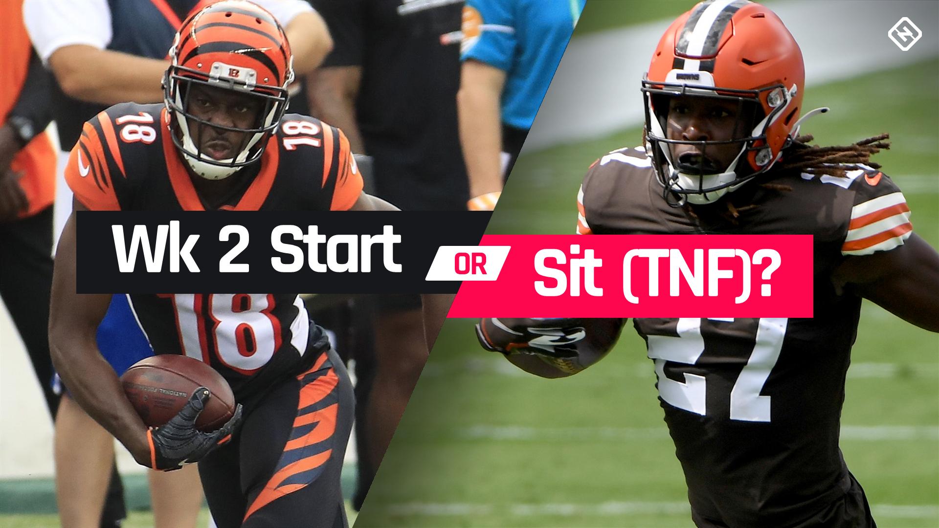 Bengals vs. Browns Fantasy Football Start 'Em Sit 'Em for Week 2 'Thursday Night Football'