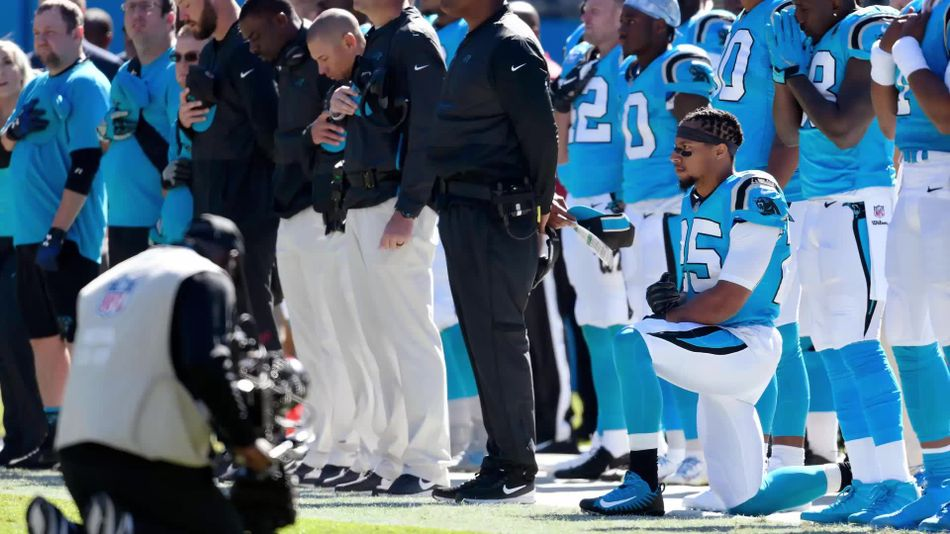 NFL's Eric Reid says he won't stop kneeling during National Anthem
