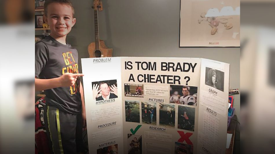 This 10-year-old won a science reasonable by '' proving'Tom Brady is a cheater