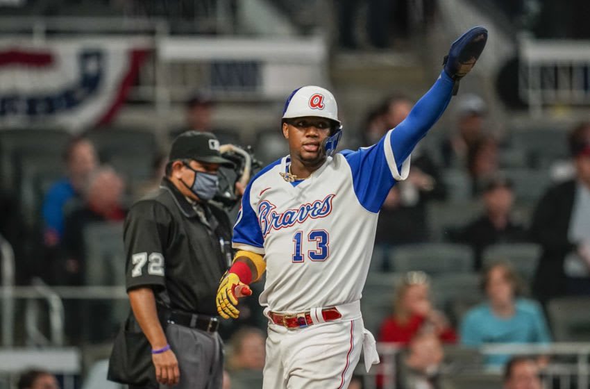 Ronald Acuña miraculously stays in game despite painful HBP (Video)