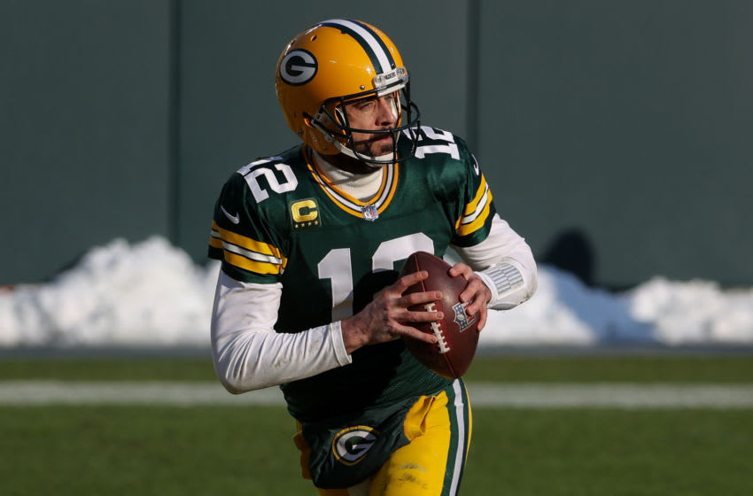Broncos GM ducks Aaron Rodgers questions: 'We like who we have' in QB room