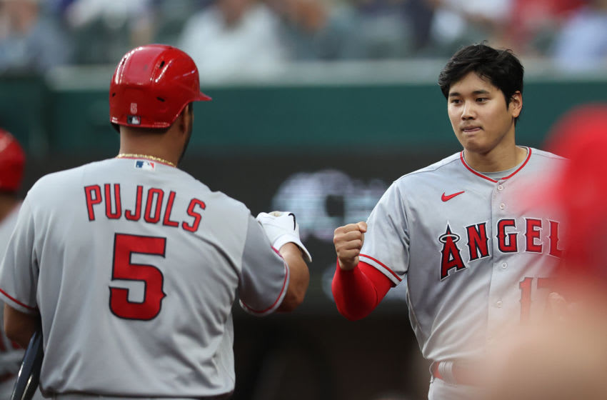 Shohei Ohtani became MLB home run leader during Albert Pujols' first at-bat with Dodgers