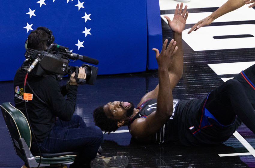 Joel Embiid had the best celebration ever after his and-1 (Video)
