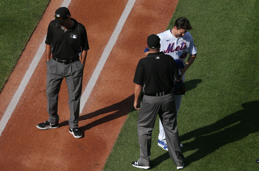 Watch umps check Jacob deGrom for sticky substance shortly before dropping no-hitter